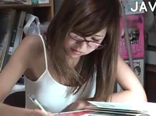 Asian Glasses Japanese Student Teen