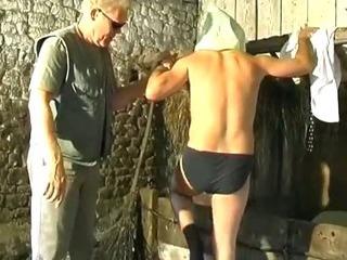 Bazaar scrounger fucks and tortures his horny