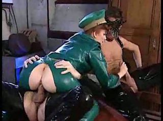 Clothed Fetish Hardcore Latex  Threesome Vintage