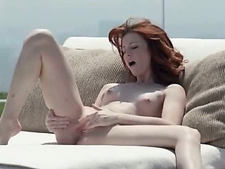Babe Cute Masturbating Outdoor Redhead Solo Teen