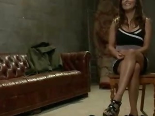 Bondage busty babe give arms asshole fucked give basement by her husband