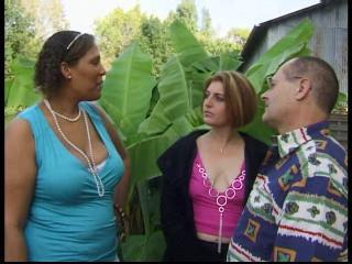 European French Mature Outdoor Threesome