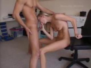 Amateur Blowjob Girlfriend Office  Skinny