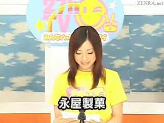 Japanese newscasters get their chance to scantling on Bukkake TV