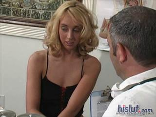Blonde Doctor Old and Young Teen