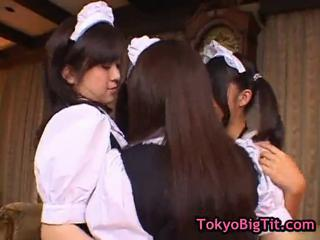 Asian Japanese Lesbian Maid Teen Uniform