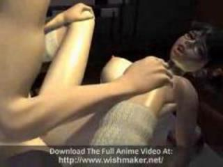 Busty 3d anime cuties sucking and fucking