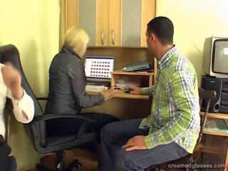 Blonde Mature Office Secretary