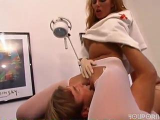 German Licking MILF Nurse Pantyhose Uniform