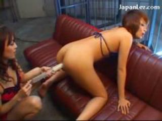 Busty Redhead Girl Squirting Enema From Her Ass In Doggy On The Couch