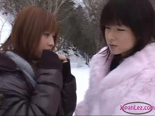 Asian Babe Cute Japanese Lesbian Outdoor Teen