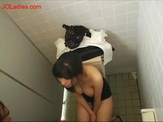 Office Lady In Skirt Fucked From Behind Cum To Ass In The Public Toilette by sotegune