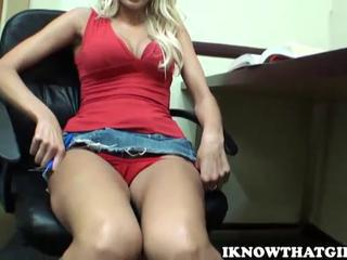 Breanne Benson amateur blonde teen with natural tits getting...