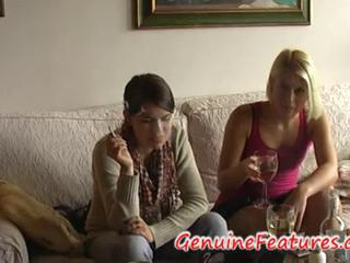 Amateur Drunk European Smoking Teen