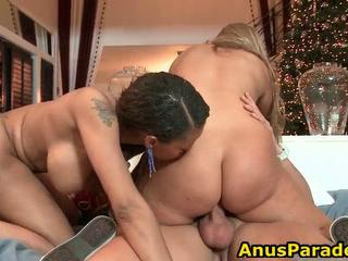 Ass Chubby Riding Tattoo Threesome