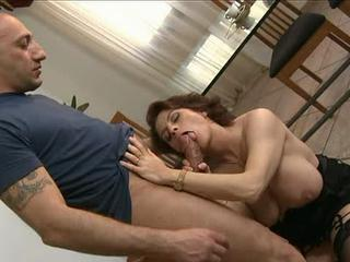 Big Tits Blowjob European Italian Mature Natural
