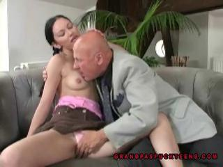 Kissing Old and Young Panty Skirt
