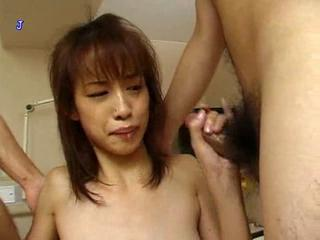 Asian Handjob Small cock Teen Threesome