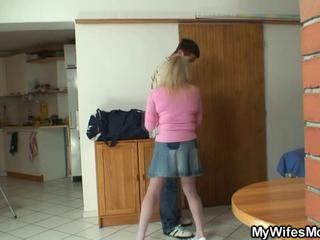Bigcocked Alms-man Is Drilling His Wife's Mom Pussy