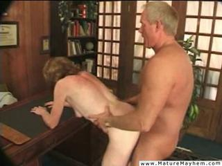 Doggystyle Mature Office Older