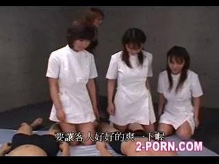 Lucky guy has orgy party with 3 jap beauty