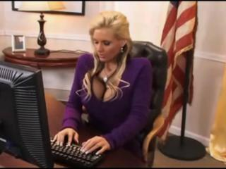 Big Tits Blonde  Office Pornstar Secretary