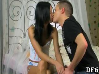 First Time Kissing Skinny Teen Virgin