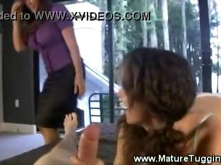 Hot mother daughter handjob