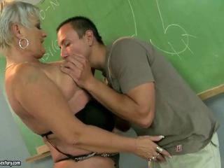 Fat mature teacher fucking with her student by reno78