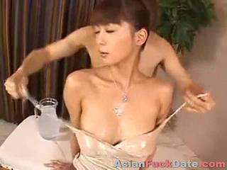 Asian Babe Japanese Oiled Skinny
