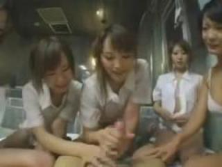 Asian  Handjob Japanese Teen Uniform