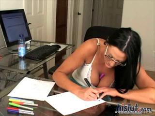 Big Tits Brunette Glasses  Natural Teacher
