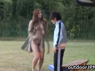 Asian Babe Japanese Outdoor Public