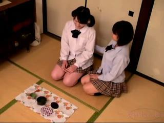 Asian Lesbian Skirt Teen Uniform