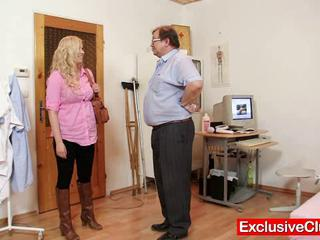 Babe Blonde Chubby Doctor Old and Young