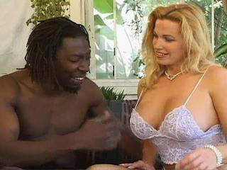Amazing Big Tits Blonde Interracial
