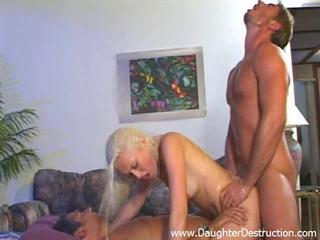 Anal Blonde Daughter Double Penetration Hardcore Teen Threesome