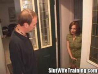 Redhead housewife doing all to pass her training