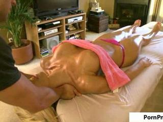 XXX Blonde Gets Oily Fuck