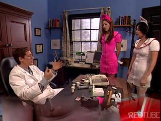 Brunette Nurse Has A Meeting With The Doctor And Gets Banged