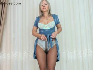 Big Tits Lingerie  Pantyhose Solo Stripper