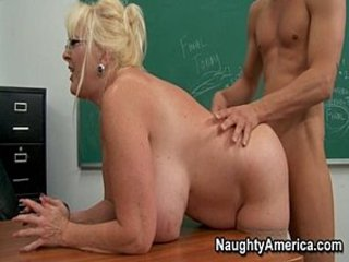 Big Tits Blonde Doggystyle Glasses Mature Natural School Teacher