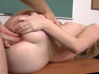 Trainee has anus made love by professor