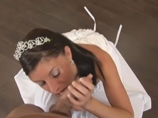 Bride Tiffany shafting onto couch