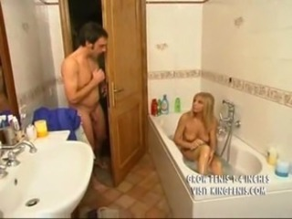 Blonde Italian Mother Plays with Son free