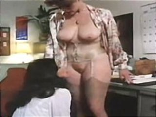 Lesbian Licking MILF Natural Office Secretary Stockings Vintage