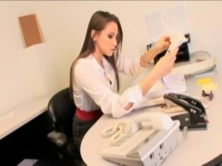 Amazing Cute Lesbian  Office Secretary