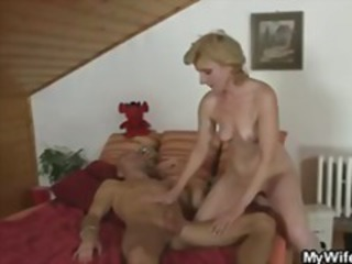 Naughty amateur wife gets his fist stuffed in her big juicy pussy