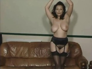 Amazing Big Tits  Natural Solo Stockings