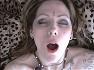 Brunette is filmed through the various stages of an orgasm
